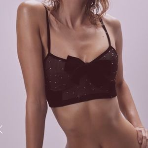 Lucky Dice Bow Front Bra